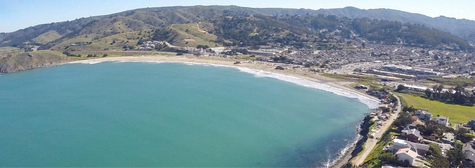 action plan header, coast line Half Moon Bay photo