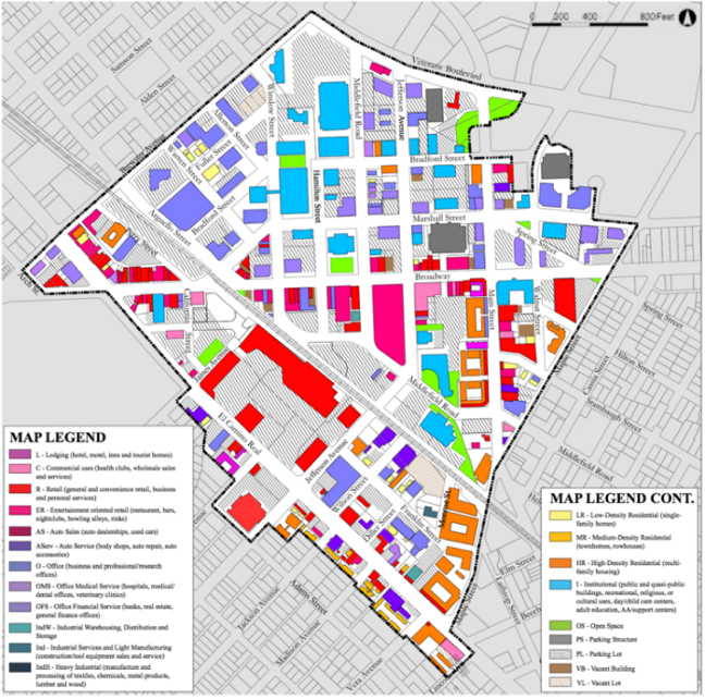 Downtown Redwood City Map